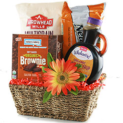 Healthy gift baskets organic gluten free kosher diygb wholesome breakfast organic breakfast basket negle Image collections