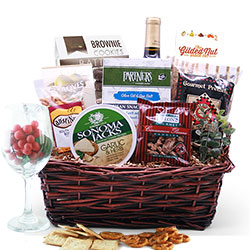 Why Thank You! Wine Gift Basket
