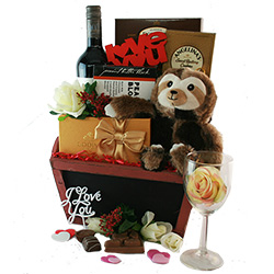 Wild for You Valentines Day Gift Basket