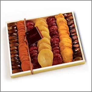 Dried Fruit Delight Sm Fruit Gift Basket