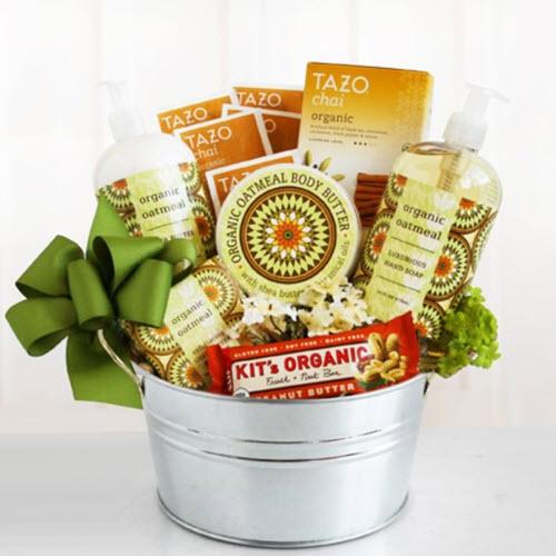 Organic Oatmeal Spa Organic Spa Gift Basket