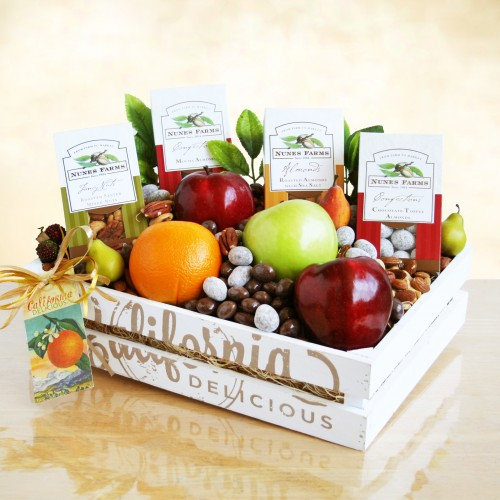 California Delicious Fruit and Nuts Crate Fruit Gift