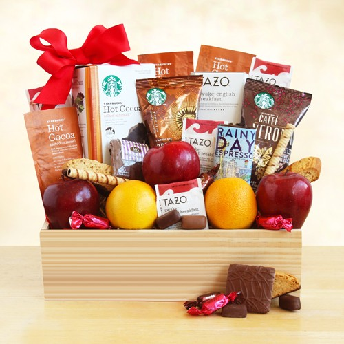 Starbucks Select and Fruit in a Crate Fruit Gift