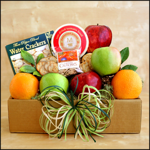 Fruit and Cheese Box Fruit Gift Basket