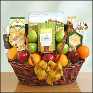 Fresh and Fruity Basket Fruit Gift Basket