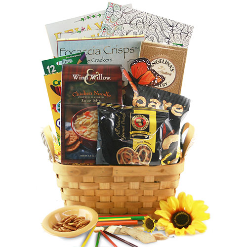 Get well gift baskets get well soon baskets for men women diygb art therapy adult coloring book gift basket negle Images
