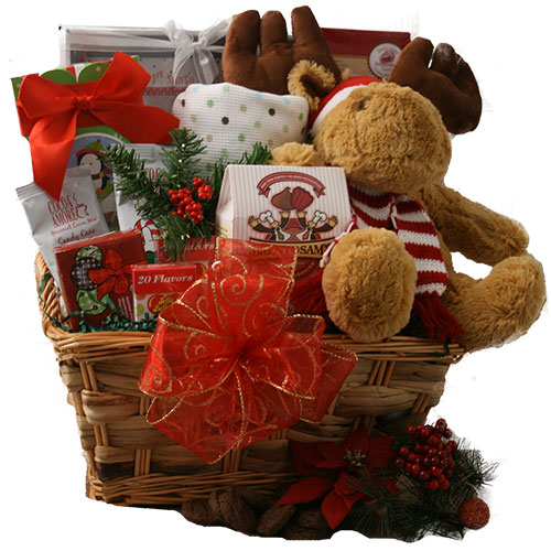 Babys First Christmas Baby Gift Basket