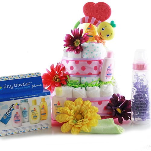 Bee Utiful Baby Diaper Cake
