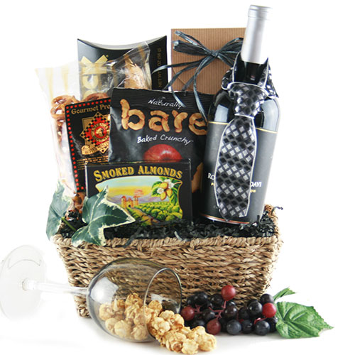 Black Tie Optional Wine Gift Basket