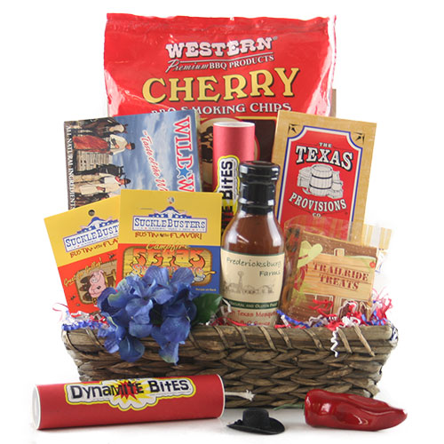 Blazin Saddles Texas Gift Basket