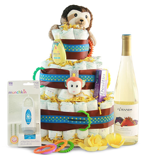 Bottoms Up Baby Diaper Cake