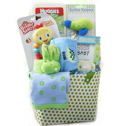 Bouncin Baby Boy Baby Gift Basket