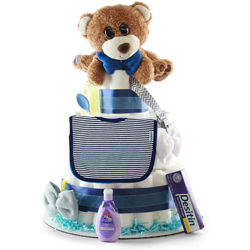Diaper Cakes For Boys Girls Little Boy Blue Baby Diaper Cake Diygb