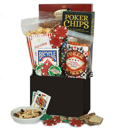 Poker night gift basket ideas