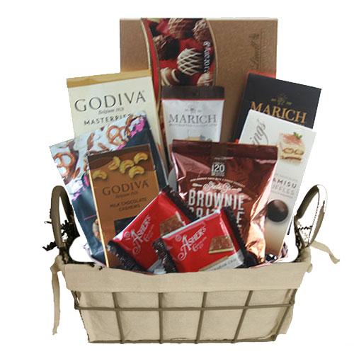 Sm Chocolate Gift Basket BP1012