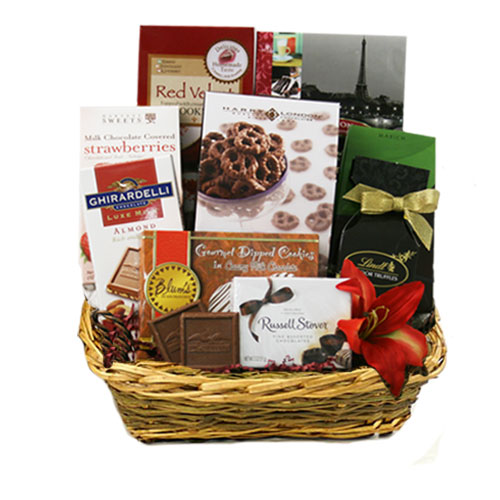 Med Chocolate Gift Basket BP1024