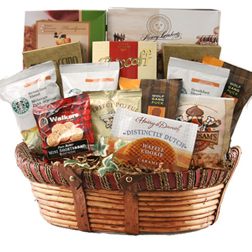 Lg Coffee Gift Basket BP1026