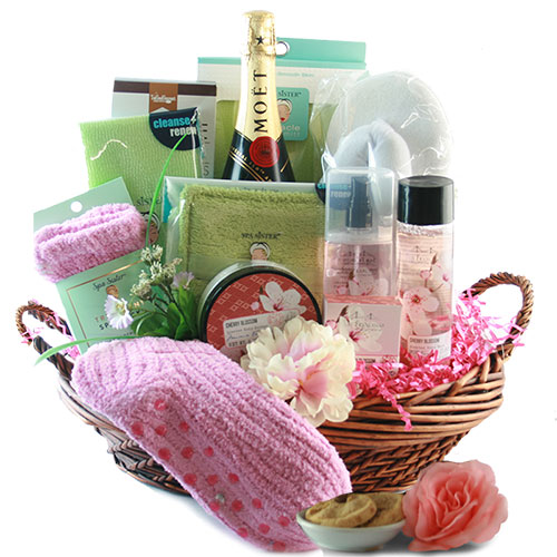 Spa gift baskets bubbles wine gift basket diygb bubbles wine gift basket solutioingenieria Choice Image