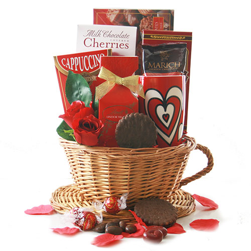 Café Confections Valentines Day Gift Basket