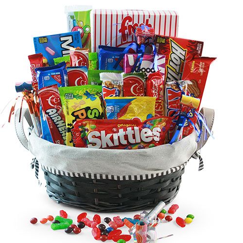 Easter gift baskets easter baskets for adults kids diygb candy explosion candy gift basket negle Choice Image