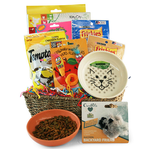 Catnip Crazy Pet Gift Basket Cat