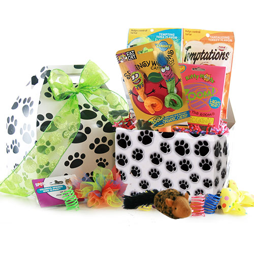 The Cat s Meow Pet Gift Basket Cat