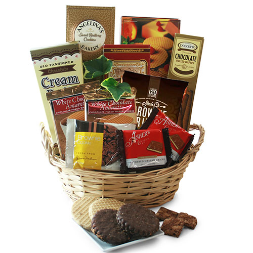 Charming Chocolate Chocolate Gift Basket