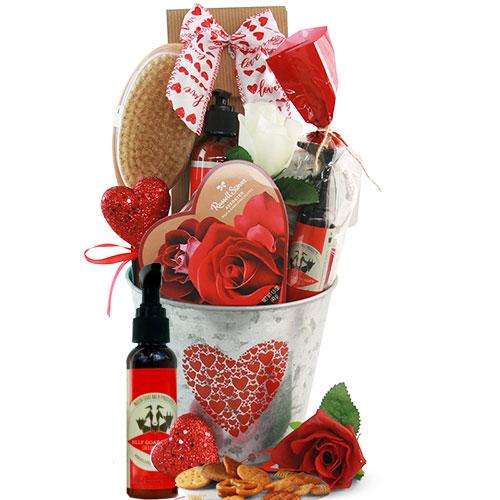 Valentines Spa for Dudes Gift Basket
