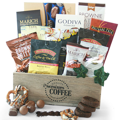 Chocolate Coffee Chocolate Gift Basket