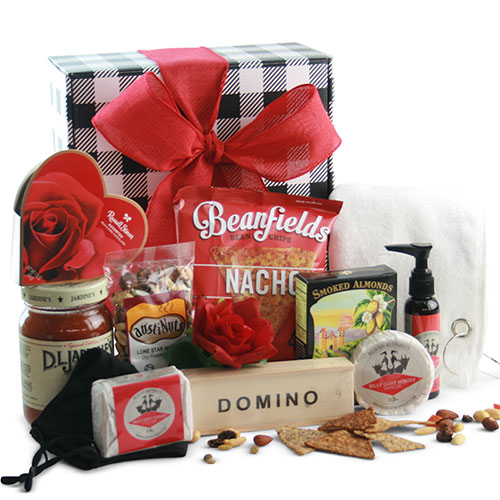 COVID Valentines for Him Gift Basket