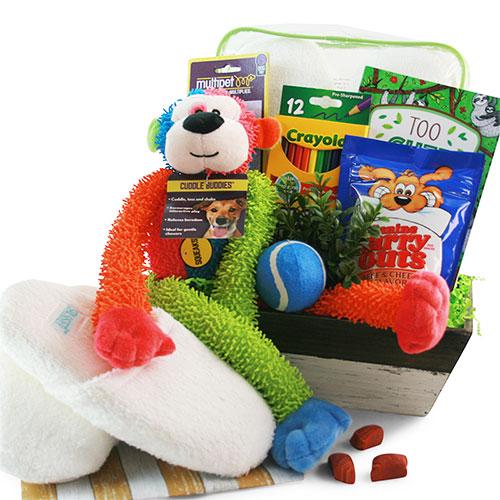 Cuddle Buddy Dog Gift Basket