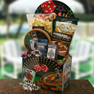 Dads Bluff Fathers Day Poker Basket