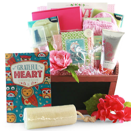 A Day at the Spa for Mom Spa Basket