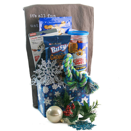 Deck the Dogs Christmas Gift Basket
