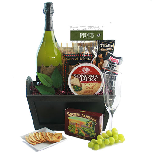 Dom Perignon Greetings Wine Gift Basket