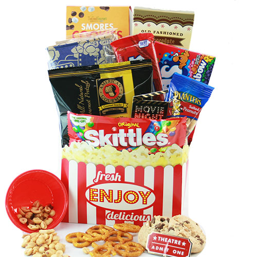 Double Feature Movie Night Gift Basket
