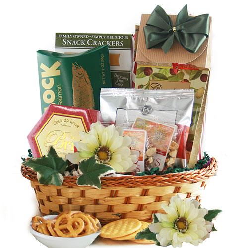 Elegant Gourmet Med Food Gift Basket