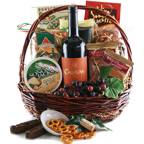 Fanciful Feast Wine Gift Basket