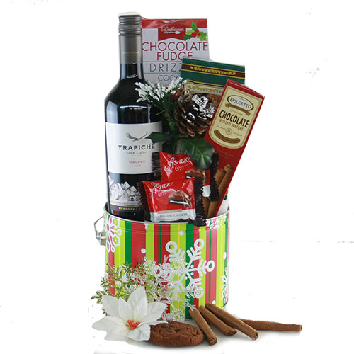 Frosty Delights Holiday Gift Basket