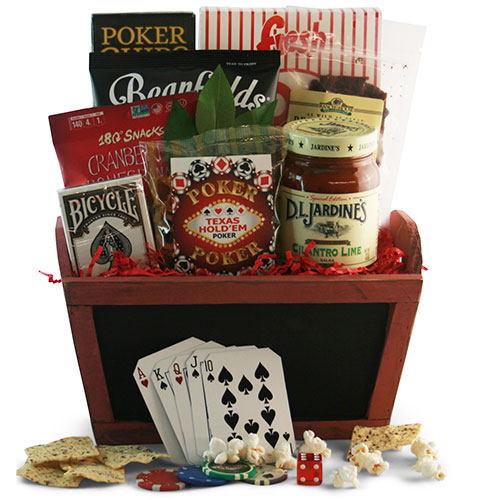 Full House Poker Gift Basket