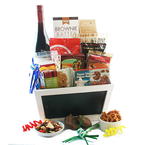 Hats Off to You Christmas Wine Gift Basket Ideas