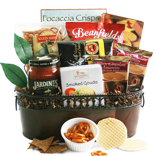 Here s to You Food Gift Basket