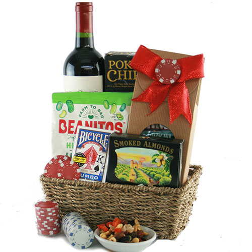 High Roller Poker Gift Basket