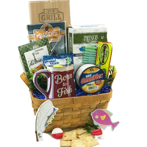 Hook Line and Sinker Fishing Gift Basket