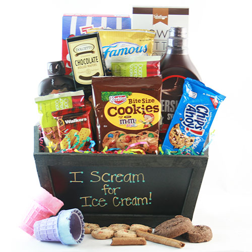Easter gift baskets easter baskets for adults kids diygb i scream you scream ice cream gift basket negle Choice Image