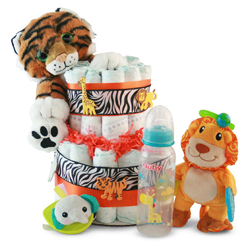 It s a Jungle out There Diaper Cake