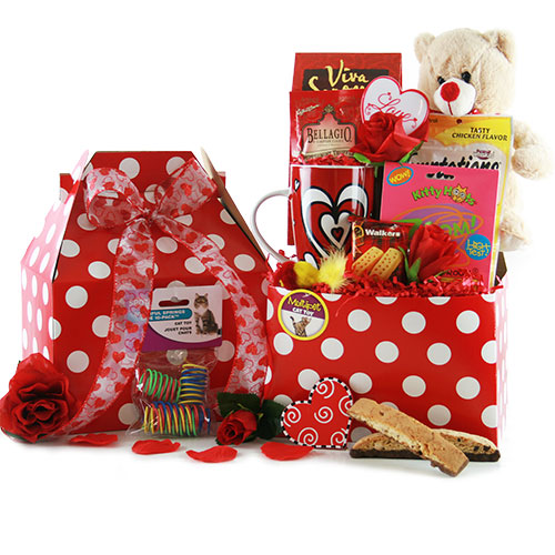 For the Love of Cats Pet Gift Basket Cat