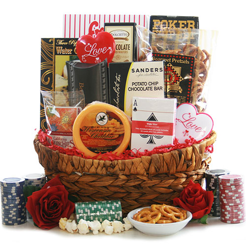 Lucky in Love Poker Gift Basket
