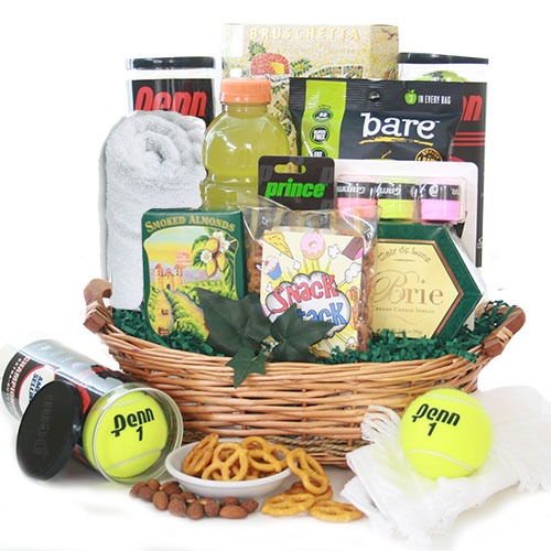 Gift baskets for women gift basket ideas for women diygb match point tennis gift basket negle Choice Image