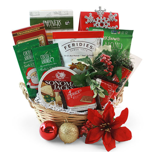 Merry Munchies Christmas Gift Basket